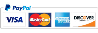powered by Paypal: VISA, Master Card, etc