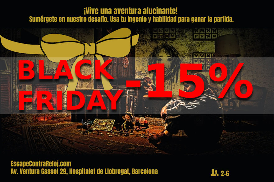 Black Friday escape room barcelona Gran descuento
